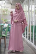 Gamis Basic Jihan Dusty Pink
