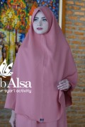 Khimar Anita Dusty Peach